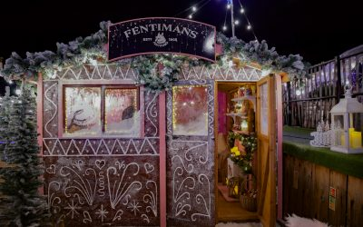 A Pink Life Size Gingerbread House with Fentimans